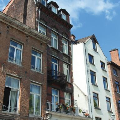 Apartments on street