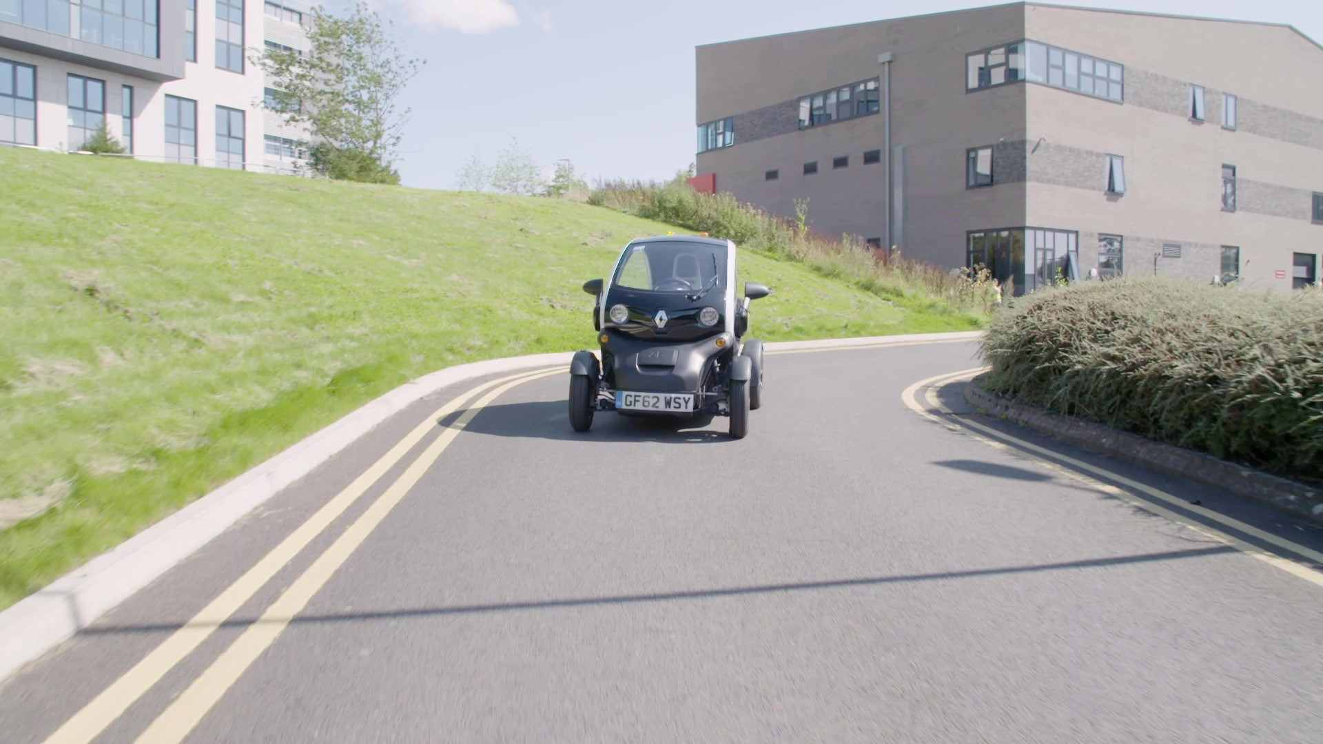 Driverless Smart Car on the road
