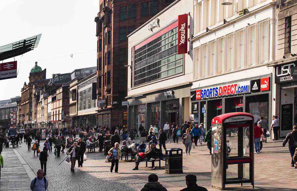 Changing Glasgow Retail shops