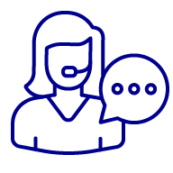 Icon of a woman wearing a headset