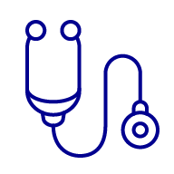 Icon of a doctor's stethoscope
