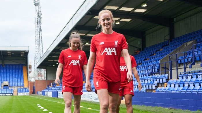 Liverpool Football Club Ladies on pitch