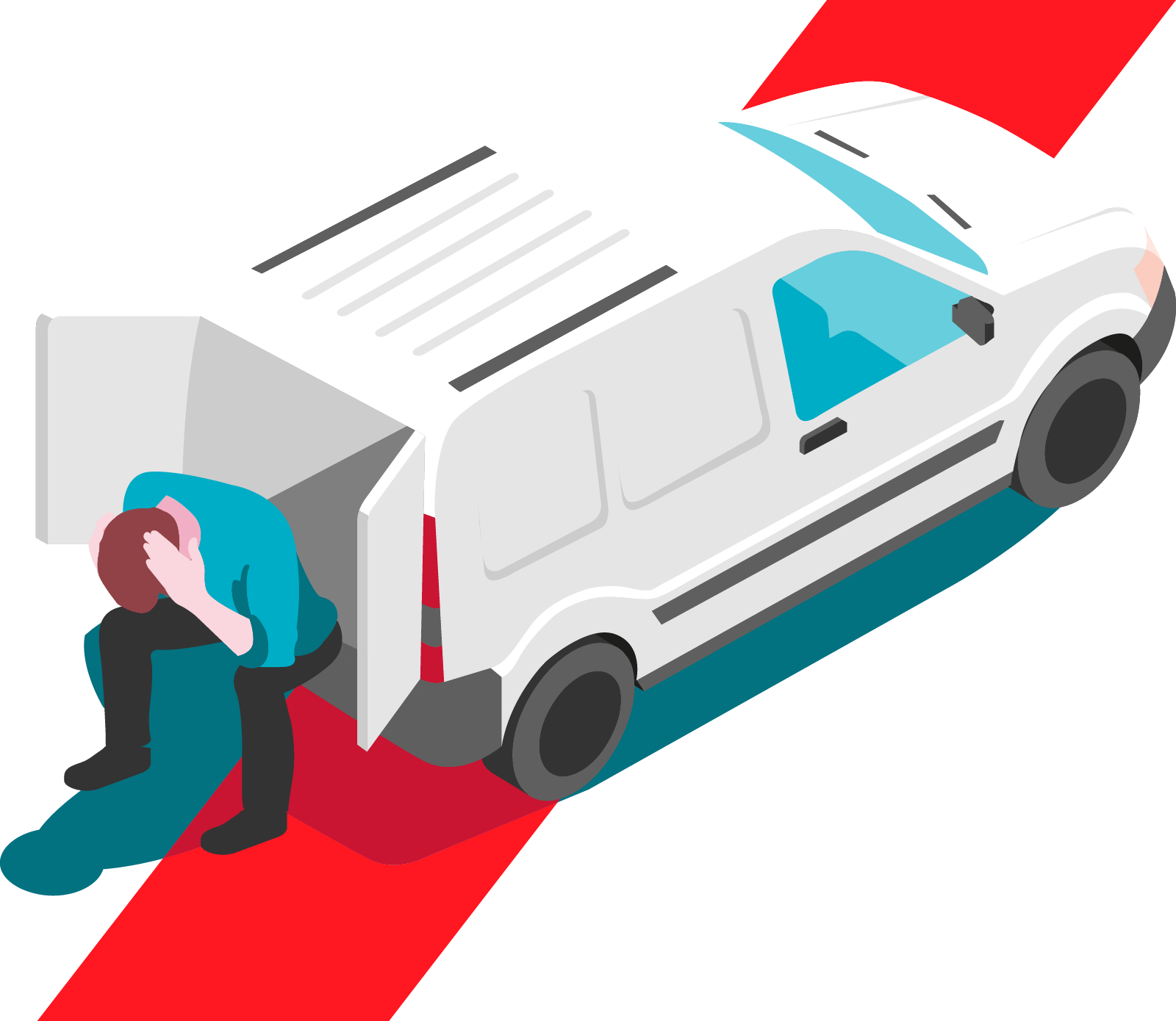 man with van that has been broken into