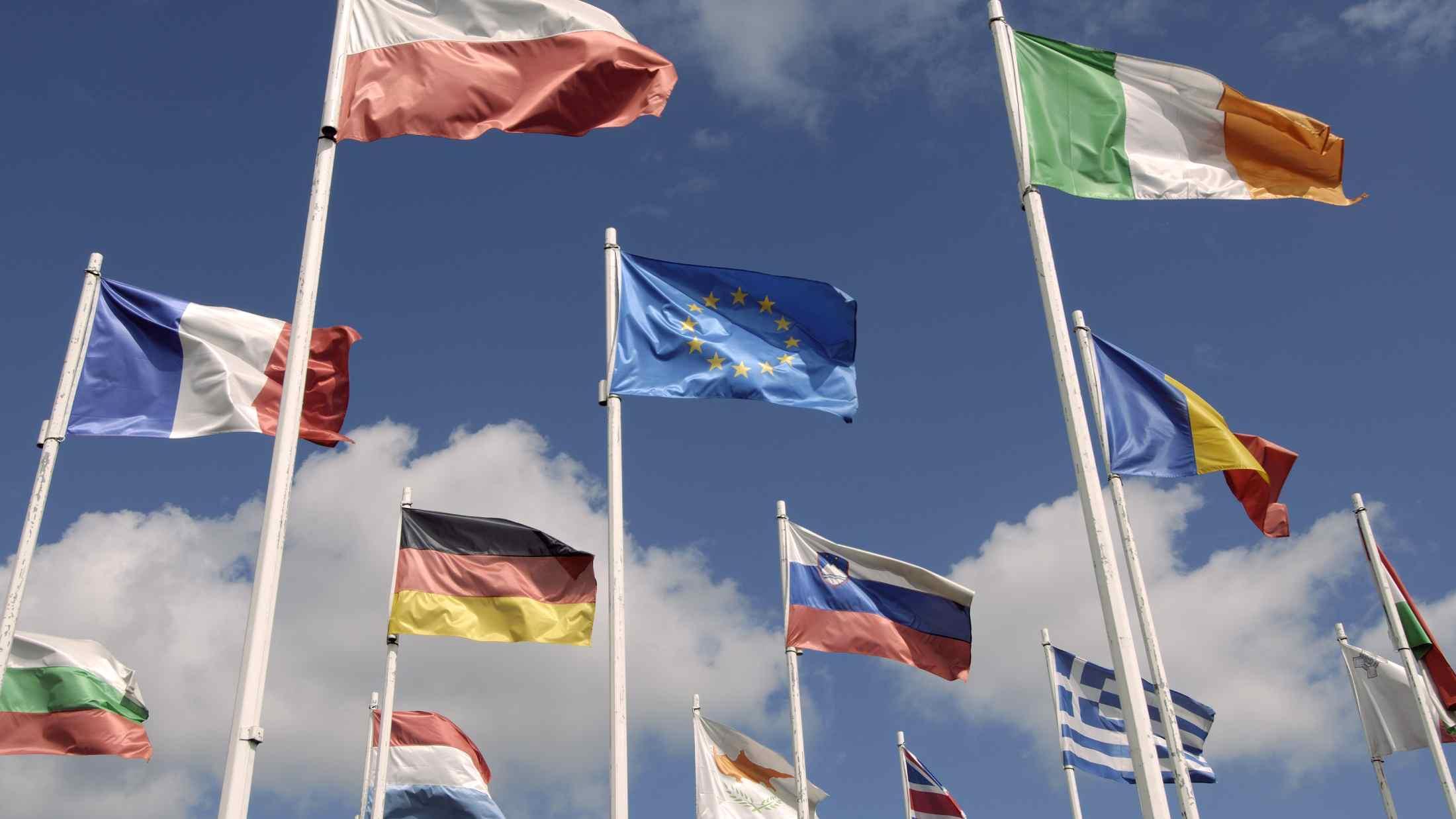 European Union member state flags
