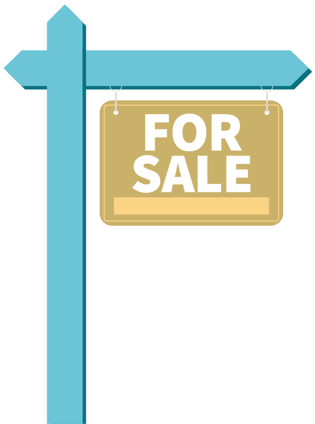 A 'for sale' sign