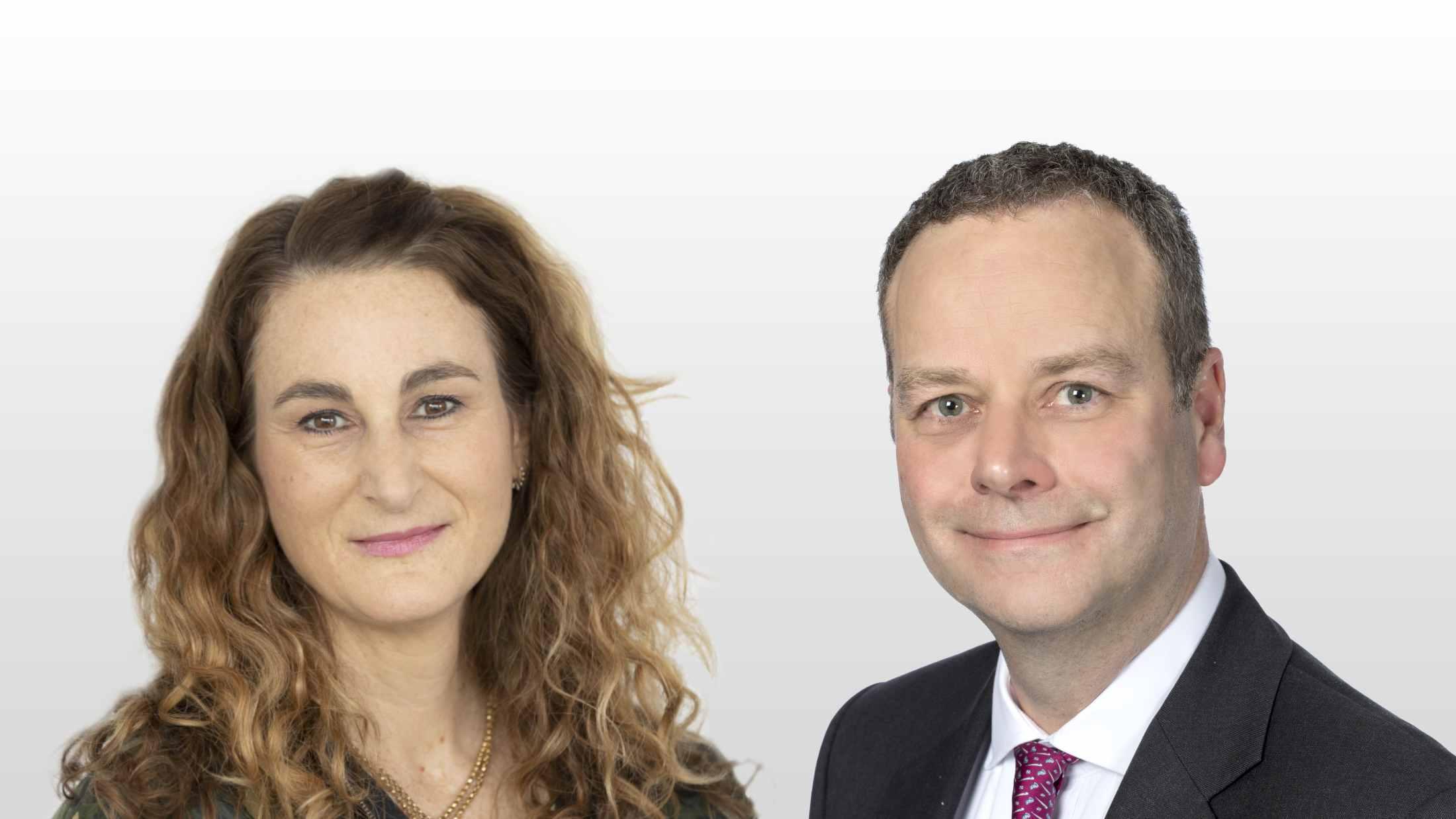 Emily Coupland and Edward Davis, General Counsel, AXA UK and Ireland