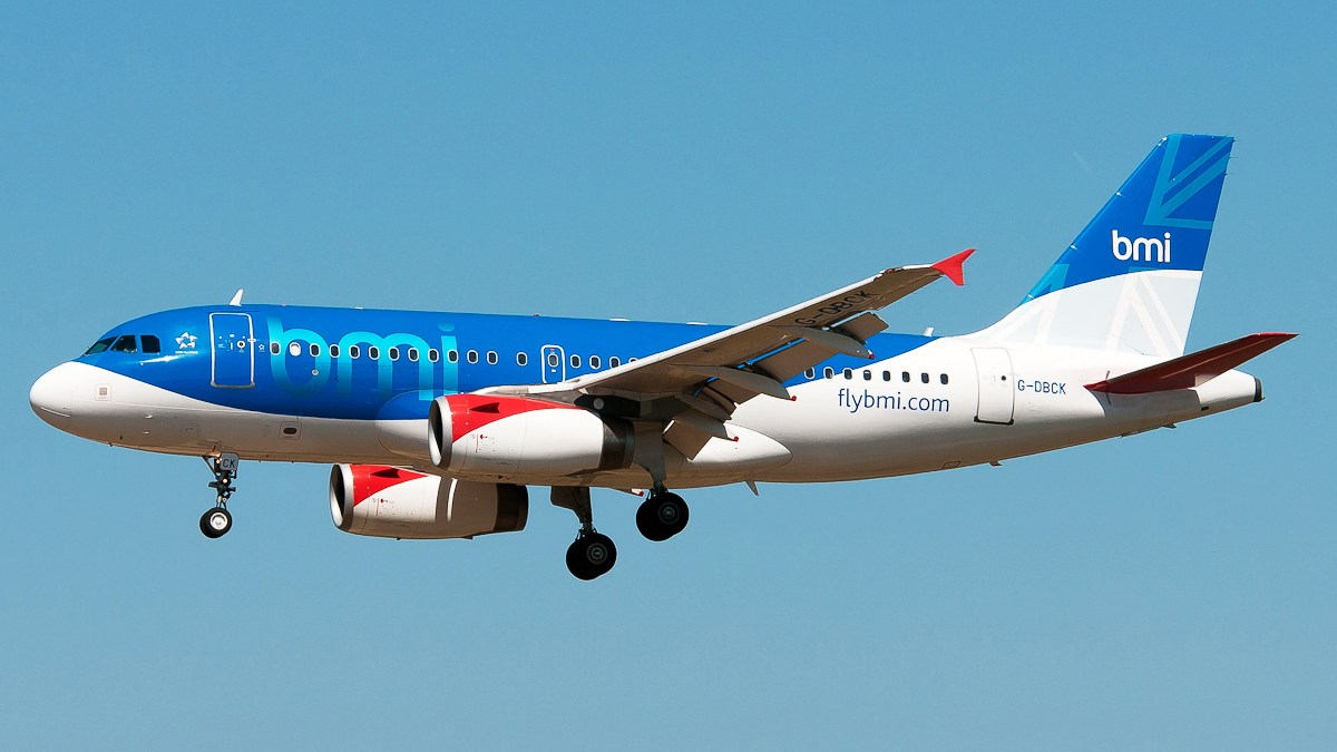 Flybmi Airbus plane